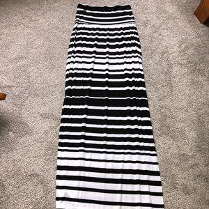 Athleta Long Striped Skirt